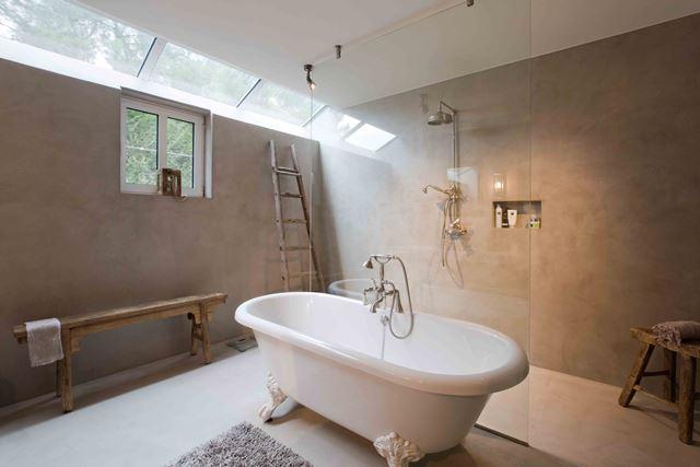 Stuc Deco Badkamer : Betonlook in badkamer of keuken p lindhout stucadoorsbedrijf